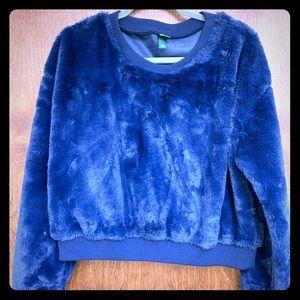 Faux Blue Fur Sweater
